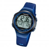 Calypso Damen Herren Armbanduhr K5799/5 Digital Kunststoff dunkelblau UK5799/5