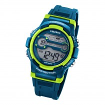 Calypso Jugend Armbanduhr K5808/3 Digital Kunststoff blau hellgrün UK5808/3