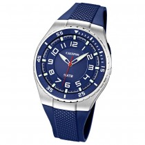 Calypso Herrenuhr blau, blaues Armband Analog Uhren Kollektion UK6063/2