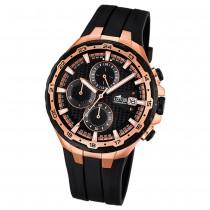 LOTUS Herren-Armbanduhr Chronograph Quarz Silikon schwarz UL18186/1