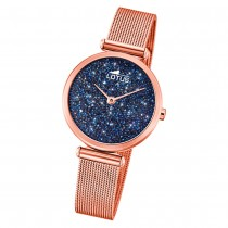 Lotus Damen-Uhr Quarz SWAROVSKI Elements 18566/2 Edelstahl rosé UL18566/2