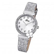 LOTUS Damen Armbanduhr Junior 18584/2 Quarz Leder silber UL18584/2