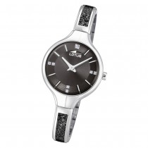 LOTUS Damen Armbanduhr Bliss 18594/3 Edelstahl silber schwarz UL18594/3