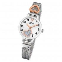LOTUS Jugend Armbanduhr Junior 18659/1 Quarz Edelstahl silber UL18659/1