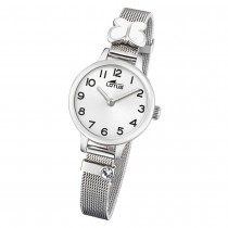 LOTUS Jugend Armbanduhr Junior 18660/1 Quarz Edelstahl silber UL18660/1