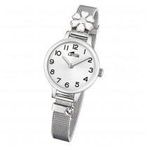 LOTUS Jugend Armbanduhr Junior 18661/1 Quarz Edelstahl silber UL18661/1