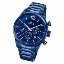 LOTUS Herren Armbanduhr Khrono 18680/1 Quarz Edelstahl blau UL18680/1