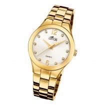 Lotus Damen Armbanduhr Trendy 18742/2 Analog Edelstahl gold UL18742/2