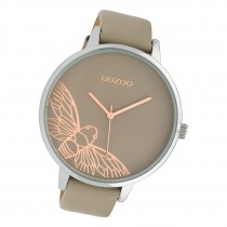 Oozoo Damen Armbanduhr Timepieces C10077 Analog Leder braun beige UOC10077