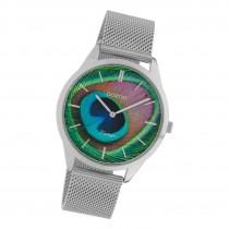 Oozoo Damen Armbanduhr Ultra Slim C10250 Analog Edelstahl silber UOC10250