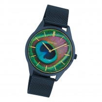 Oozoo Damen Armbanduhr Ultra Slim C10252 Analog Edelstahl blau UOC10252