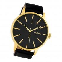 Oozoo Damen Herren Armbanduhr Timepieces C10502 Analog Leder schwarz UOC10502