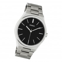 Oozoo Herren Damen Armbanduhr Timepieces C10521 Analog Edelstahl silber UOC10521