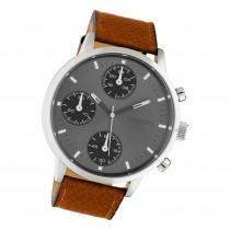 Oozoo Herren Armbanduhr Timepieces C10530 Analog Leder braun UOC10530