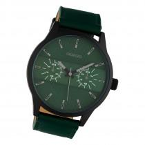 Oozoo Herren Armbanduhr Timepieces C10537 Analog Leder grün UOC10537