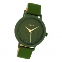 Oozoo Damen Armbanduhr Timepieces C10608 Analog Leder grün UOC10608