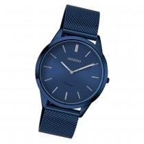 Oozoo Damen Armbanduhr Ultra Slim C20008 Quarzwerk Edelstahl blau UOC20008