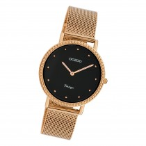 Oozoo Damen Armbanduhr Ultra Slim C20056 Analog Edelstahl rosegold UOC20056