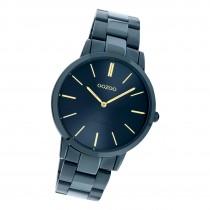 Oozoo Damen Armbanduhr Ultra Slim C20105 Analog Edelstahl dunkelblau UOC20105
