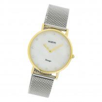 Oozoo Damen Armbanduhr Ultra Slim C20120 Analog Edelstahl silber UOC20120