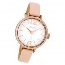 Oozoo Damen Armbanduhr rosa Timepieces Quarz C8407 Lederarmband rosa UOC8407