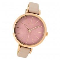 Oozoo Damen-Uhr Timepieces Quarzuhr C9136 Leder-Armband rosa UOC9136