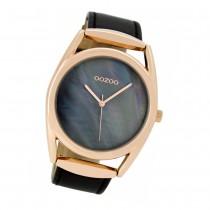 Oozoo Damen-Uhr Timepieces Quarzuhr C9169 Leder-Armband schwarz UOC9169