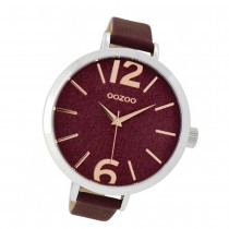 Oozoo Damen-Uhr Timepieces Quarzuhr C9193 Leder-Armband rot UOC9193