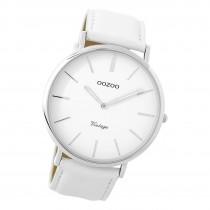 Oozoo Damen Armbanduhr Ultra Slim C9310 Analog Leder weiß UOC9310