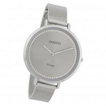 Oozoo Damen Armbanduhr Ultra Slim C9855 Quarz Edelstahl silber UOC9855