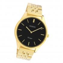 Oozoo Damen Armbanduhr Ultra Slim C9987 Analog Edelstahl gold UOC9987