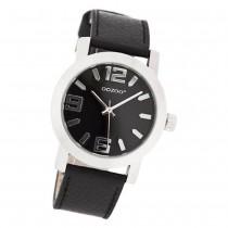 Oozoo Kinder Jugend Armbanduhr JR204 Quarzwerk Leder schwarz UOJR204