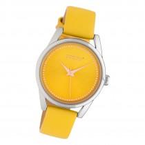 Oozoo Damen Armbanduhr Timepieces JR306 Analog Leder gelb UOJR306