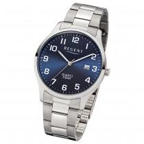 Regent Herren-Armbanduhr F-1179 Quarz-Uhr Edelstahl-Armband silber UR1153400