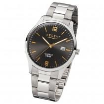Regent Herren-Armbanduhr F-1177 Quarz-Uhr Edelstahl-Armband silber UR1153401