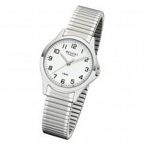 Regent Damen Armbanduhr Analog 2242424 Quarz-Uhr Metall silber UR2242424