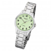 Regent Damen Armbanduhr Analog 2252408 Quarz-Uhr Metall silber UR2252408