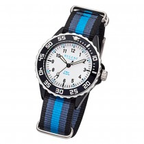 Regent Kinder-Armbanduhr BA-383 Quarz-Uhr Textil-Armband blau schwarz URBA383