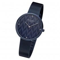 Regent Damen Armbanduhr Analog BA-569 Quarz-Uhr Edelstahl blau URBA569
