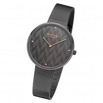 Regent Damen Armbanduhr Analog BA-570 Quarz-Uhr Edelstahl grau URBA570