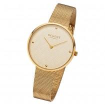 Regent Damen Armbanduhr Analog BA-572 Quarz-Uhr Edelstahl gold URBA572