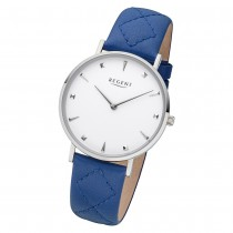 Regent Damen Armbanduhr Analog BA-573 Quarz-Uhr Leder blau URBA573