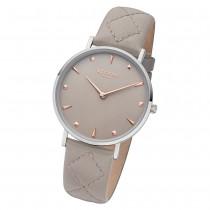 Regent Damen Armbanduhr Analog BA-575 Quarz-Uhr Leder beige URBA575