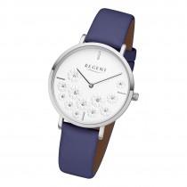 Regent Damen Armbanduhr Analog BA-590 Quarz-Uhr Leder blau URBA590