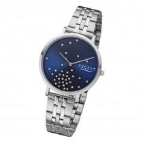 Regent Damen Armbanduhr Analog BA-594 Quarz-Uhr Edelstahl silber URBA594