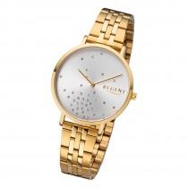 Regent Damen Armbanduhr Analog BA-596 Quarz-Uhr Edelstahl gold URBA596