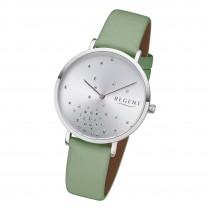 Regent Damen Armbanduhr Analog BA-598 Quarz-Uhr Leder grün URBA598