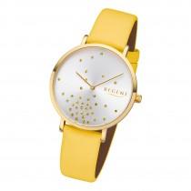 Regent Damen Armbanduhr Analog BA-600 Quarz-Uhr Leder gelb URBA600