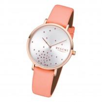 Regent Damen Armbanduhr Analog BA-601 Quarz-Uhr Leder rosa URBA601