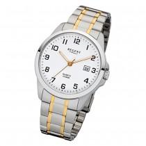 Regent Herren-Armbanduhr 32-F-1014 Quarz-Uhr Edelstahl-Armband silber gold URF1014